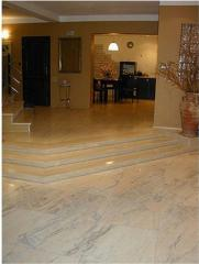 Granite for a floor, a product from granite under