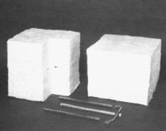 Fire-resistant blocks from a keramovolokn of