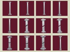 The column is architectural.