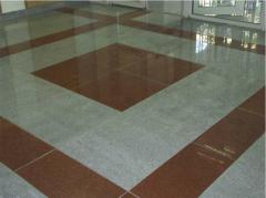The tile is floor granite, facets for a floor