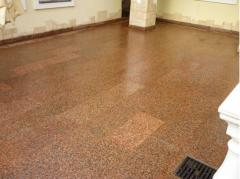 Granite tile, products from granite under the