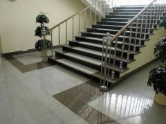 Tile facing of granite, granite facing materials