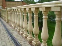 Pediments, balustrades, columns, rail-posts from a