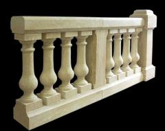 Balustrades from granite, figured products from