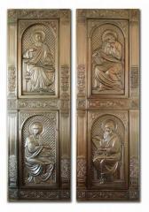 Кованые медные церковные двери, Евангелисты