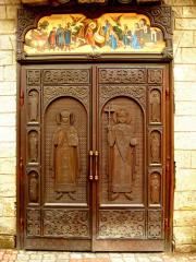 Shod church doors entrance