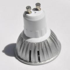 Cветодиодная лампа с цоколем GU10 LED 3W, холодная