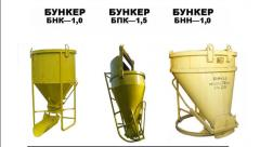 Bunkers for for filling and transportation of