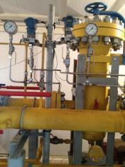 Filter separator of fuel gas