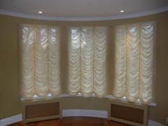 French curtains, design and tailoring.