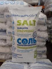 Соль поваренная экстра выварочная таблетированная