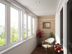 Алюмінієве скління балконів, лоджії