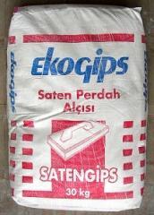 Шпаклевка гипсовая SatenGips (30кг) ECOGIPS