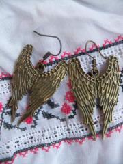 Серьги крылья