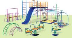 Children's playgrounds, production.