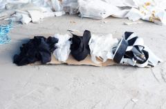 Waste of nonwoven igloprobivny fabrics