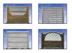 Decorative elements of a fence.