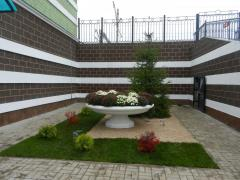 Beds concrete. Flower bed