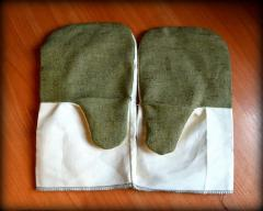 Mitten cotton with the tarpaulin handheld with the