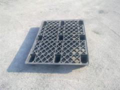 Perforated plastic pallets.