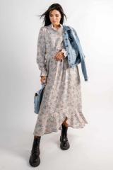 Платье Ри Мари Флорет ПЛ 2420 44 беж принт