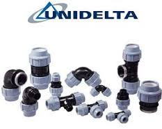 Compression tightening fitting of Unidelta