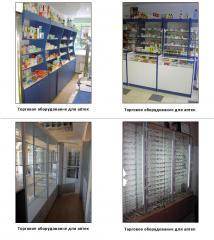 Trade equipment for drugstores