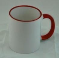 Чашка сублимационная с цветной ручкой и ободком