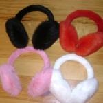 Fur earphones from rabbit Ukraine