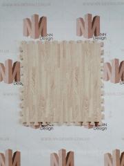 Модульна підлога пазл бежево-біле дерево
