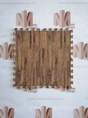 Модульна підлога пазл коричневе дерево