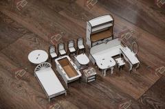 Средний набор стандартной мебели DF002