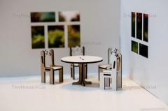 """Набор мебели """"круглый стол и стулья"""""""