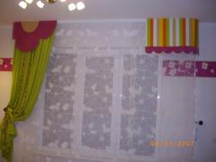 Curtains under the order