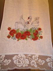Bench hammer wedding linen embroidered