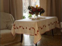 Cloth linen embroidered