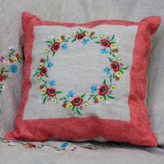 Pillows the embroidered lyany