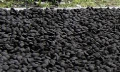 The equipment for production of coal brics, is