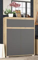 Комод Мебель Сервис Торино 2Д1Ш Артисан + Серый