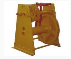 Winches for the construction woods and cradles