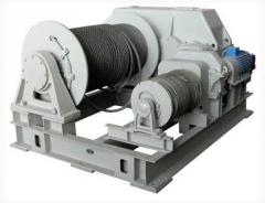 Winches, heavy, hydraulic and pneumatic