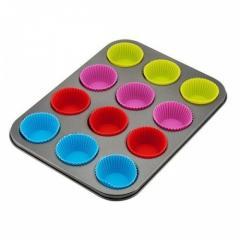 Тефлоновая форма для кексов с силиконовыми...