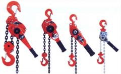Pulley blocks, hoisting machines, heavy, with