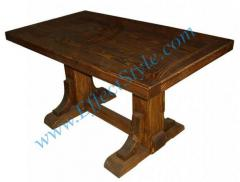 The table big of semi-antique solid pine for a
