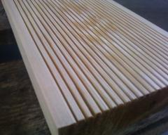 Terrace board. from a larch Siberian