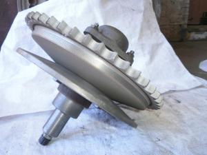 Harvester variator hydraulic