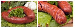 Pork sausages favourite Prilutsky meat-processing