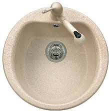 Kitchen sinks from an artificial stone