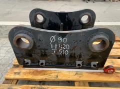 Переходная плита на гидромолот проушины 90 мм
