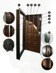Двери из массива дуба, Двери с отделкой дуб, Двери